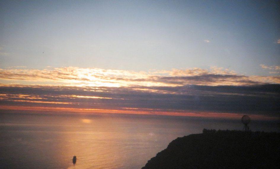 Soleil de minuit sur le Cap Nord
