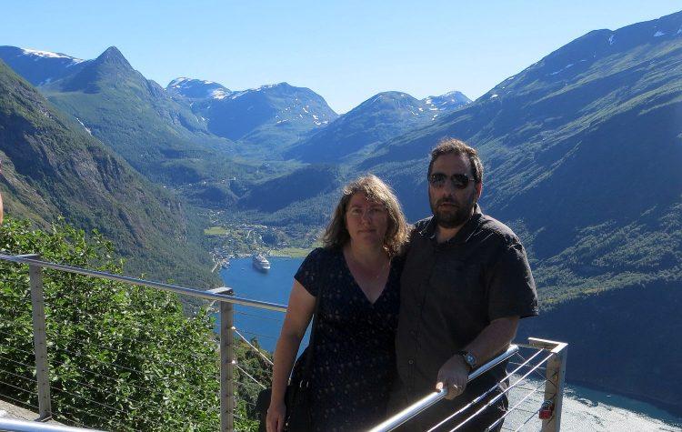 Mon mari et moi à Geiranger, la photo cliché !