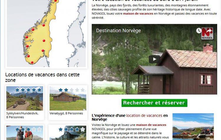 Locations en Norvège chez Novasol