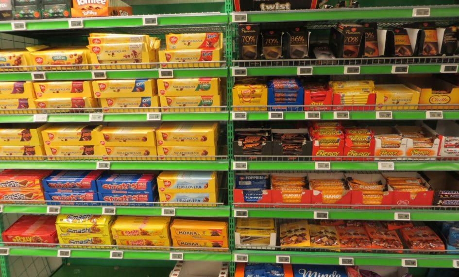 Rayon chocolat d'un supermarché norvégien