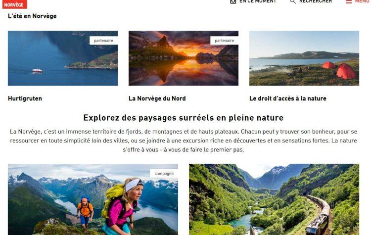 Le site de VisitNorway.fr