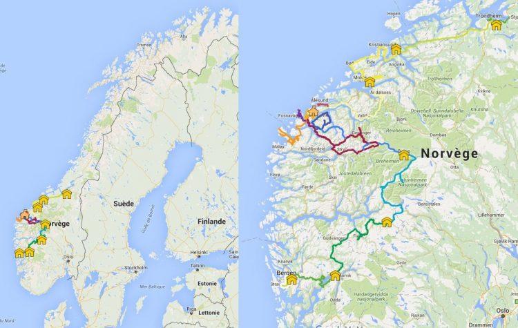 Carte de présentation du trajet 2015