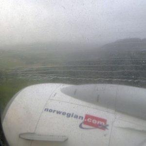 Vue du hublot en arrivant en Norvège