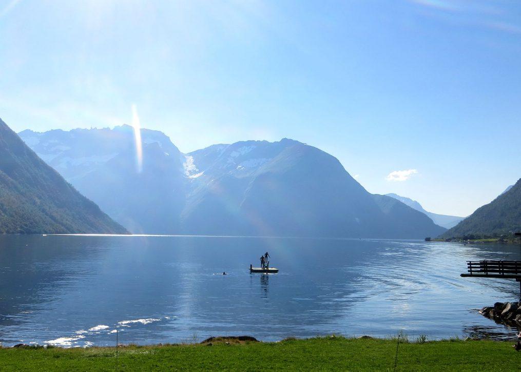 Au bord du fjord à Leknes