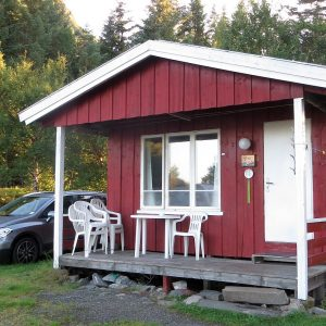 Notre hytte au camping de Magnillen