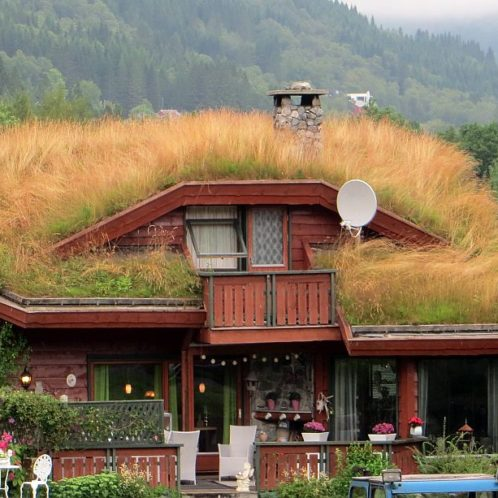maison norvégienne de l'ile d'Hareid