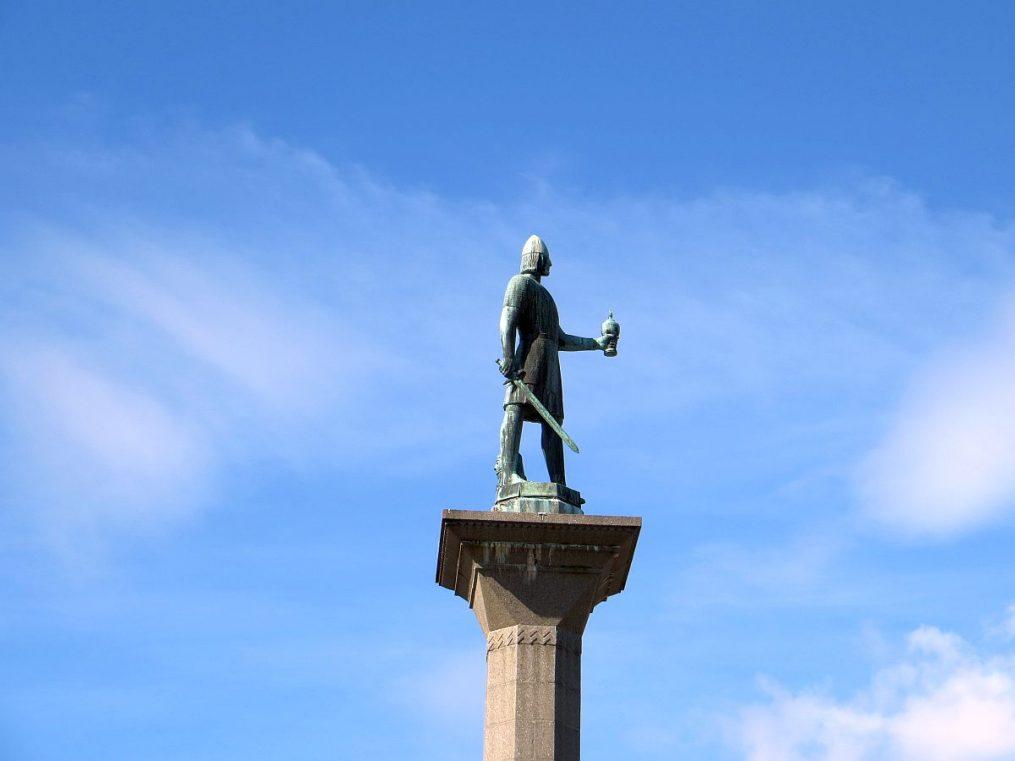 Statue de la grande place de Trondheim