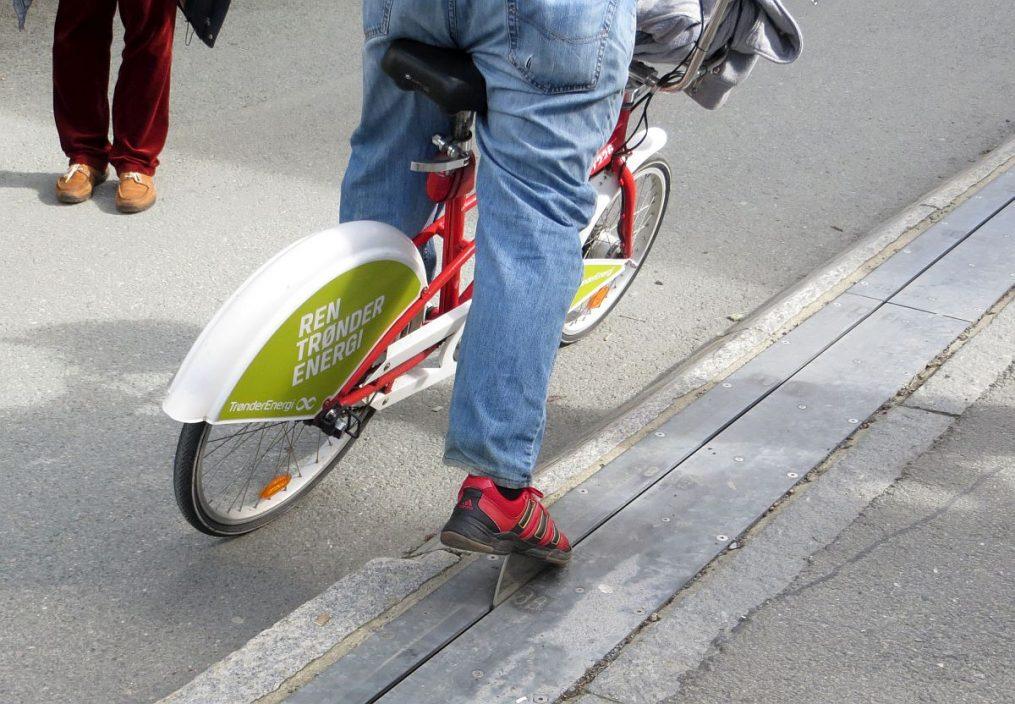 Remonte-pente pour vélos à Trondheim
