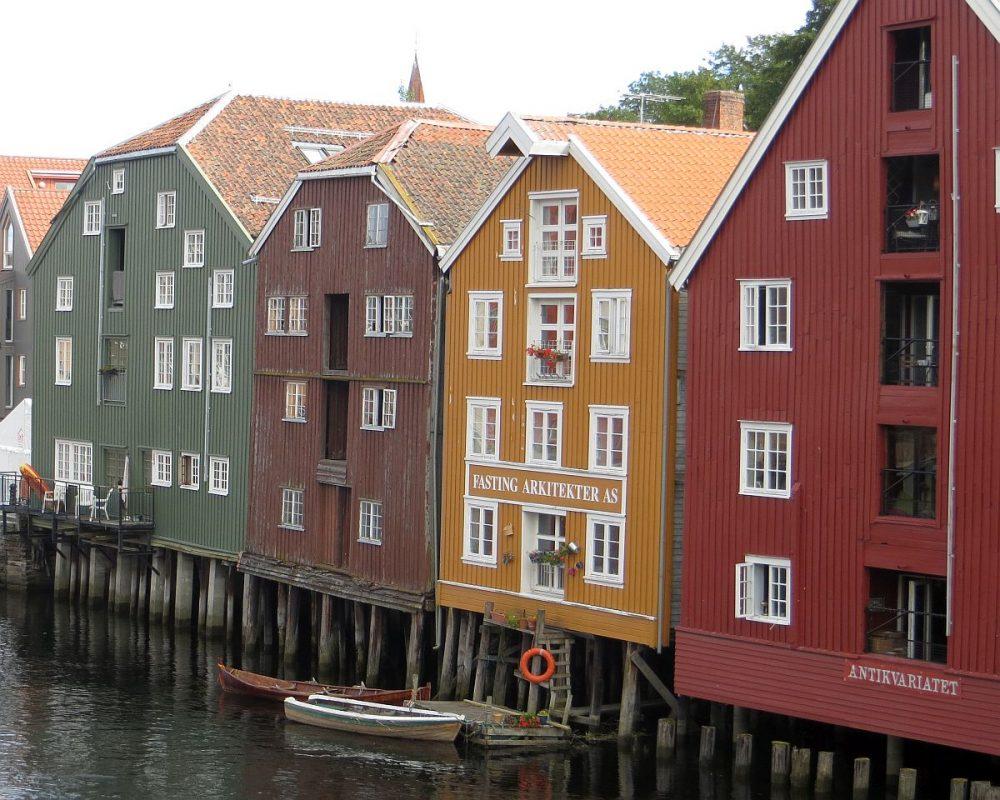 Vieux quai de Trondheim
