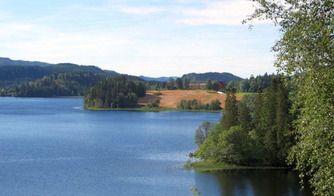 Vue du lac pris de la hytte